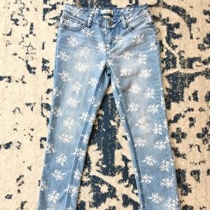 GIRLS Mudd Floral Bouquet Skinny Jeans SIZE  10-12